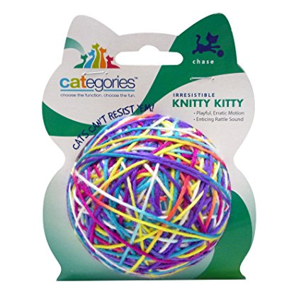Large Multi-Color - Yarn Ball Cat Toy
