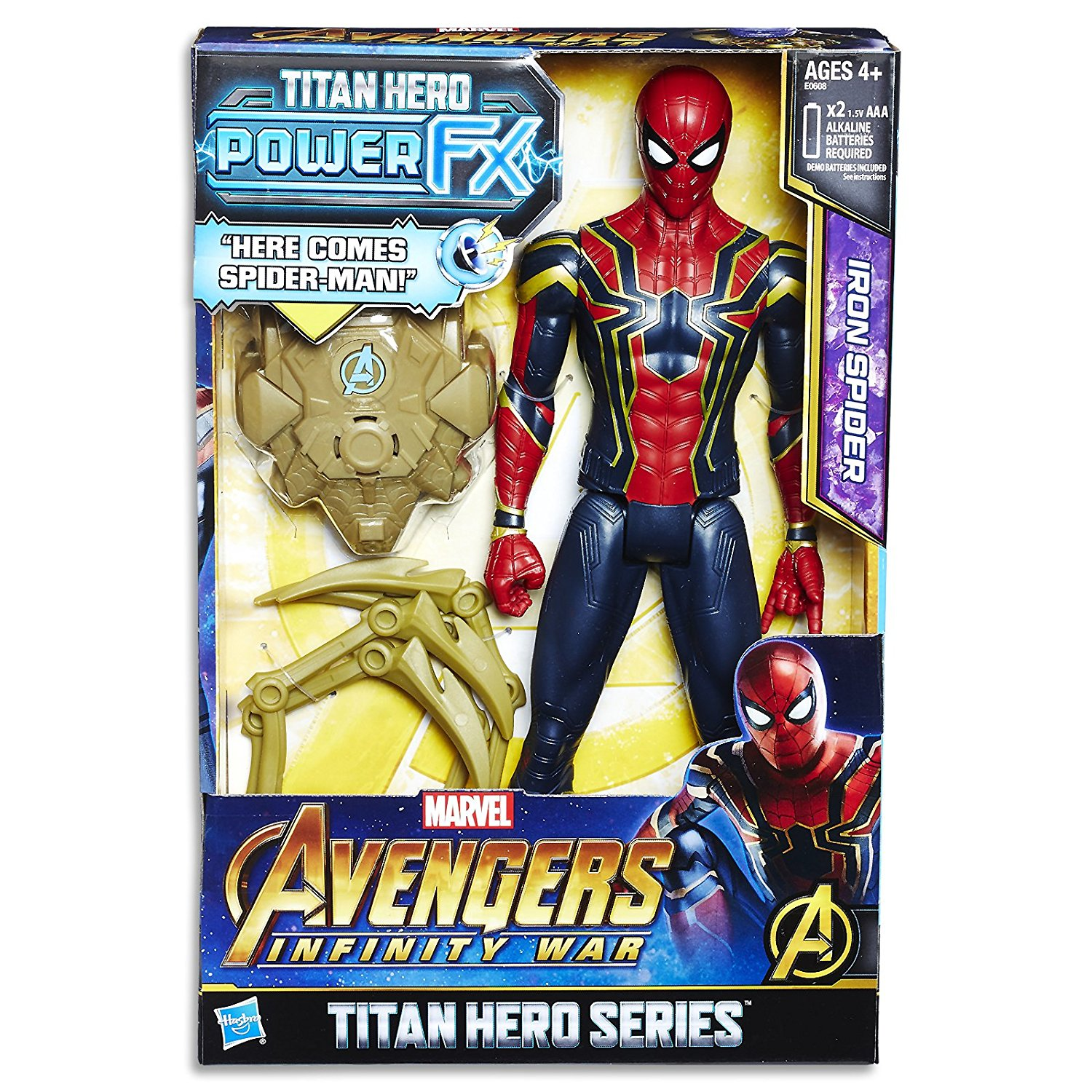 Marvel Avengers Infinity War Titan Hero Power FX Iron Spider